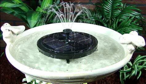 ceramic bird bath fountain solar great home decor
