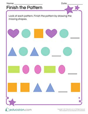 pattern necklace worksheet kindergarten assessments for the beginning of the year