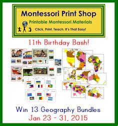 free printable montessori geography materials 1000 images about montessori giveaways on pinterest