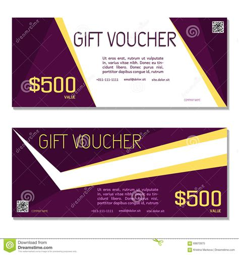 Voucher Promo gift voucher coupon and voucher template for company corporate stock vector image 69870975