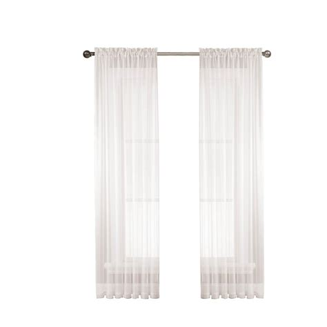 wide rod pocket curtains window elements diamond sheer voile extra wide 84 in l
