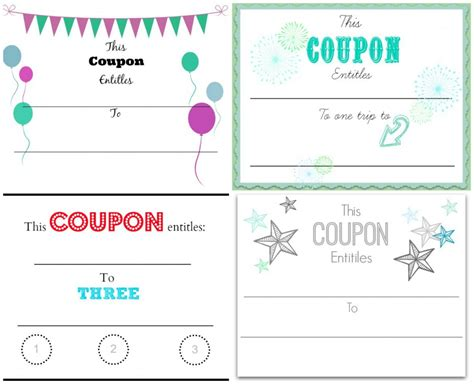 make your own christmas coupons free printables home