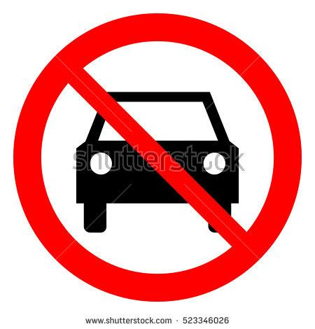 Report Not Allowed To Drive by No Cars Allowed Prohibition Sign No Stock Vector 523346026