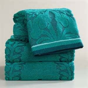 teal bath towels teal esme sculpted bath towel collection world market