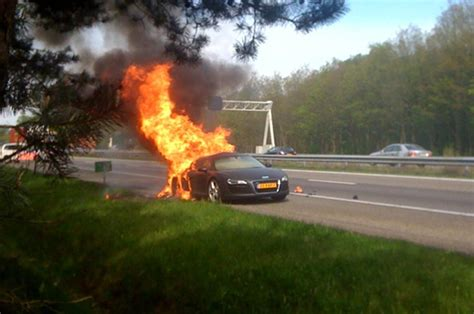 audi   catches fire   netherlands news top speed