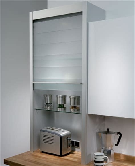 kitchen cabinet roller shutter doors hafele glass tambour unit for housing small appliances