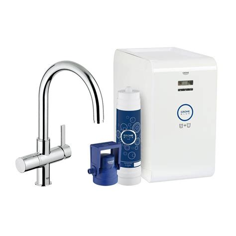 grohe blue chilled sparkling 2 handle standard kitchen