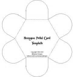 Flower Envelope Template by Mirkwood Designs Hexagon Petal Card Template