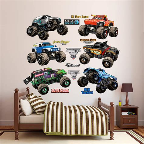 truck wall stickers jam trucks collection wall decal shop fathead 174 for trucks decor