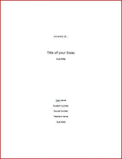 how to lay out a dissertation title page for a college paper search ideas for