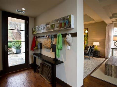 entryway in living room finding a place for your mudroom hgtv