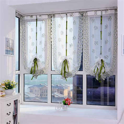 aliexpress com buy 2017 roman curtains top sheer kitchen