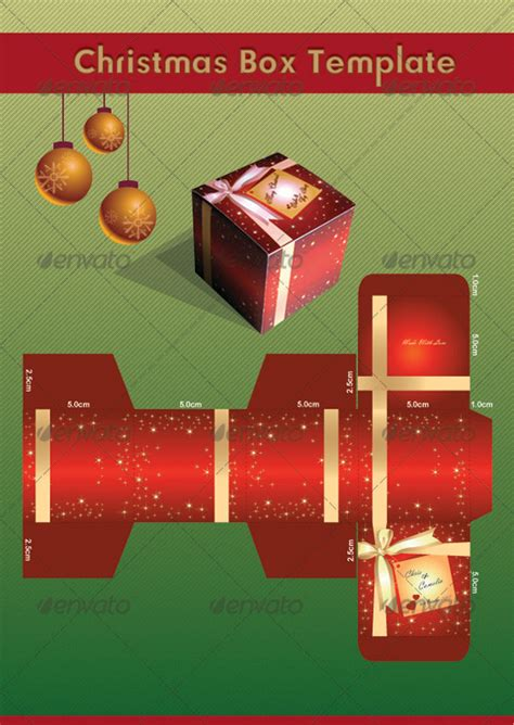christmas gift box template by marissa5709 graphicriver