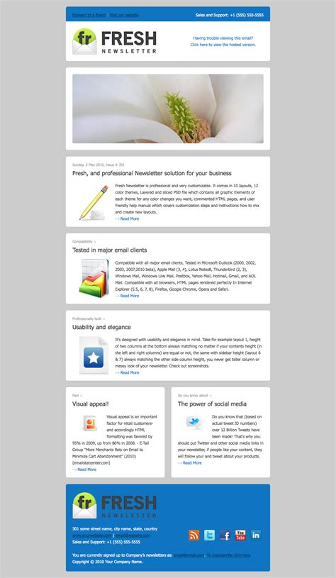 layout email newsletter 10 stunning email newsletter design dzineblog com