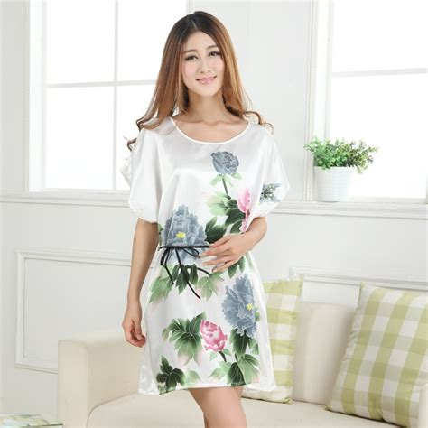 sleeve floral sleepwear dress robes