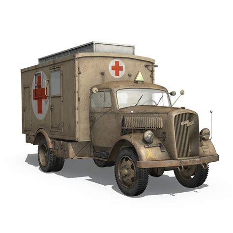 Opel Blitz Truck by Opel Blitz 3t Ambulance Truck 2 Pzdiv 3d Model