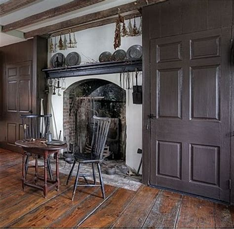 Colonial Fireplace by 1750 Colonial Milford New Jersey Allen S 19th Century