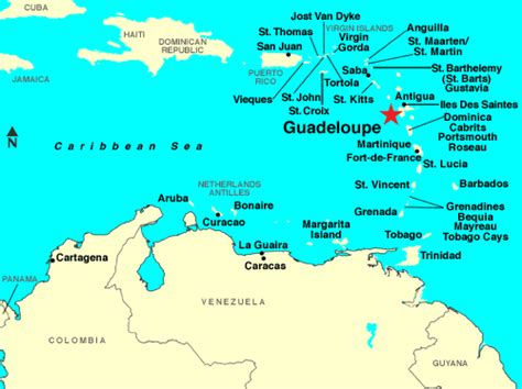 Maps of Guadeloupe