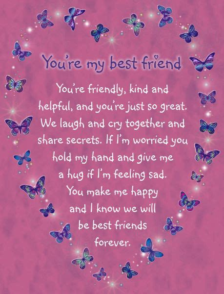 poem for my best friend s wedding card card you re my best friend you re friendly and helpful and you re just so great