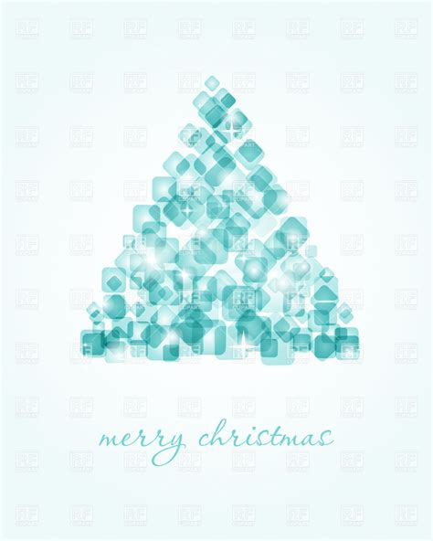 ice cube christmas tree tree made of cubes vector clipart image 22438 rfclipart
