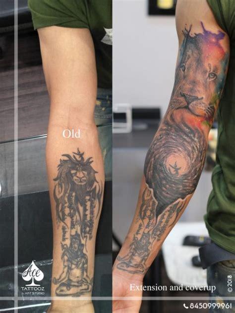 watercolor tattoos cover up lord shiva tattoos ace tattooz studio mumbai india