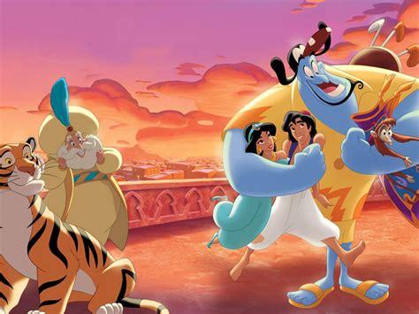 walt disney  story  aladdin  princess jasmine gin sultan  abu monkey hd wallpaper