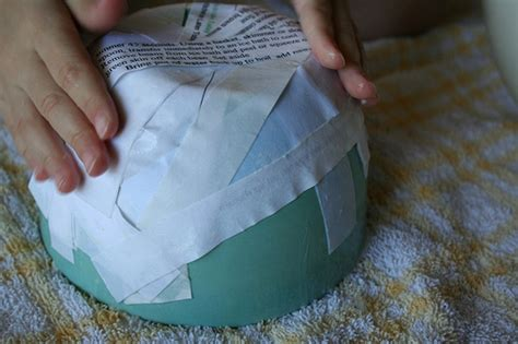 Paper Mache Things To Make - recycled crafts make a paper bowl tutorial crafting a