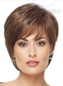 Inches carefree short straight capless human hair wig wigsbuy com