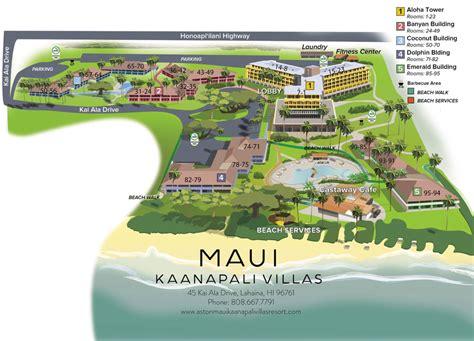 kaanapali resort map south of black rock the whaler resort vs el dorado