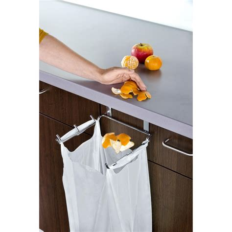 Over The Cabinet Door Trash Bag Holder For 163 6 16 On Cabinet Door Trash Bag Holder