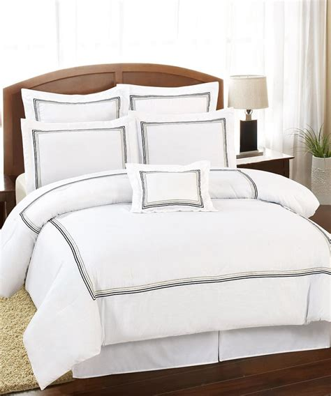 white delrio hotel king comforter set bedroom luxury
