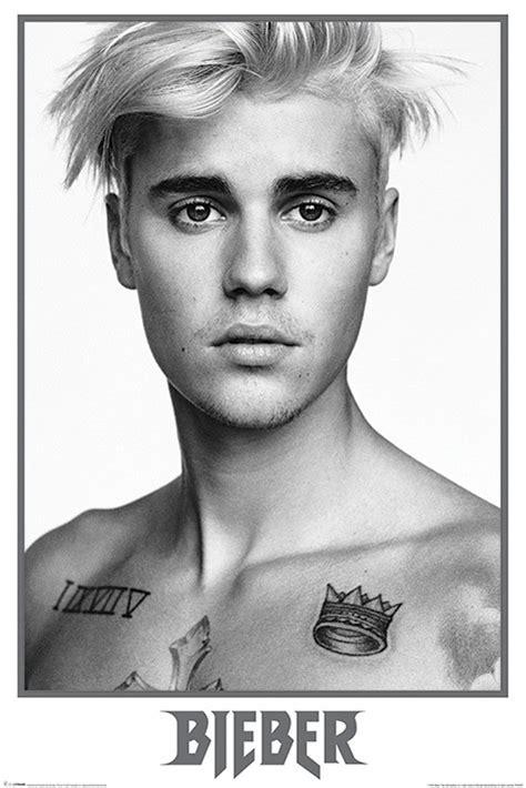 Justin White justin bieber bieber black and white poster affiche