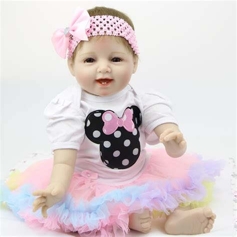 Handmade Baby Dolls That Look Real - 22inch silicone reborn baby doll handmade npk doll