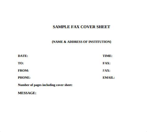 Confidential Cover Sheet Template by Fax Cover Sheet 27 Free Documents In Pdf