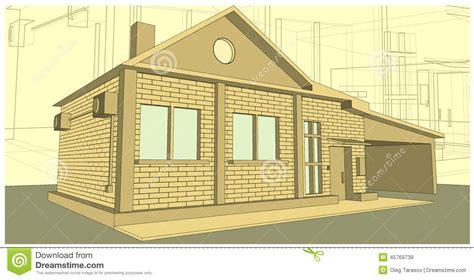 house of bricks house made of bricks stock vector image 45769739