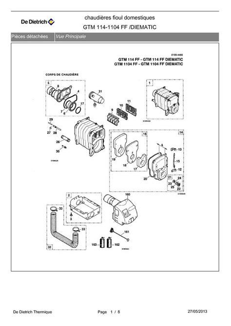 Prix D Une Chaudiere A Condensation 1385 by Pi 232 Ces D 233 Tach 233 Es Chaudi 232 Re De Dietrich Gtm 114 1104 Ff