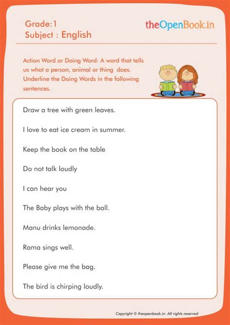 doing words worksheets for grade 1 all worksheets 187 doing words worksheets for grade 1