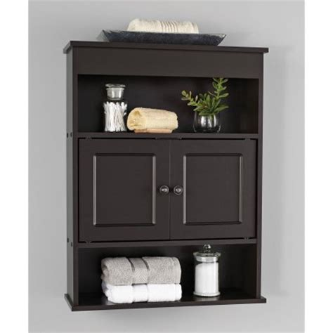 Espresso Bathroom Cabinet Chapter Bathroom Wall Cabinet Espresso Walmart
