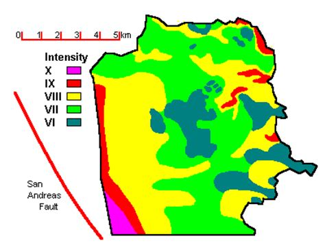 san francisco geology map faults and earthquakes