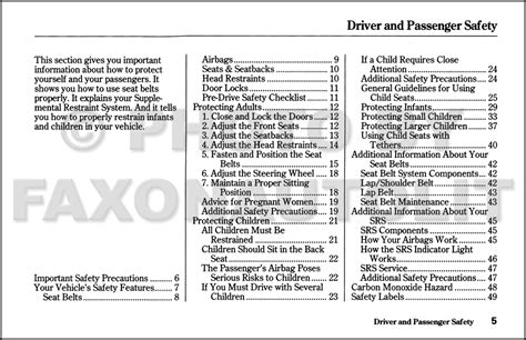 free car repair manuals 1999 isuzu oasis security system 1999 isuzu oasis owner s manual original