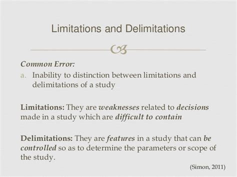 limitations of dissertation limitations and delimitations in a dissertation drafting a