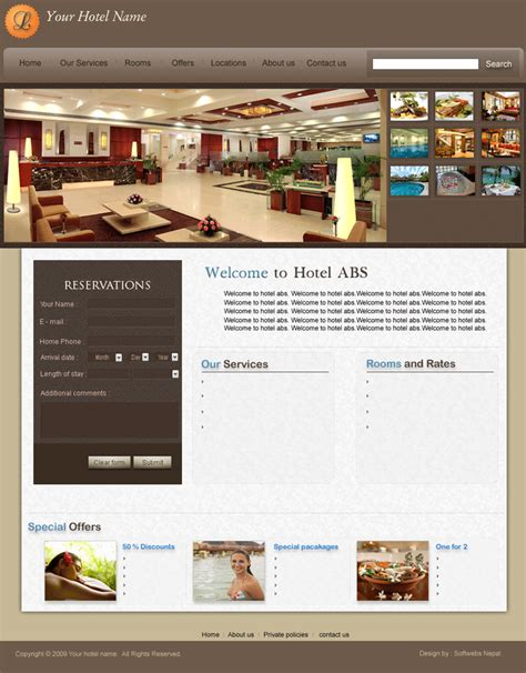 free hotel website design hotel marketing reservation