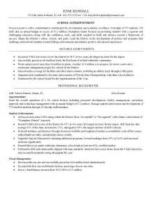 superintendent resume sle maintenance superintendent resume sales superintendent