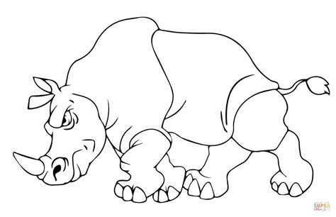 angry rhino coloring page free printable coloring pages