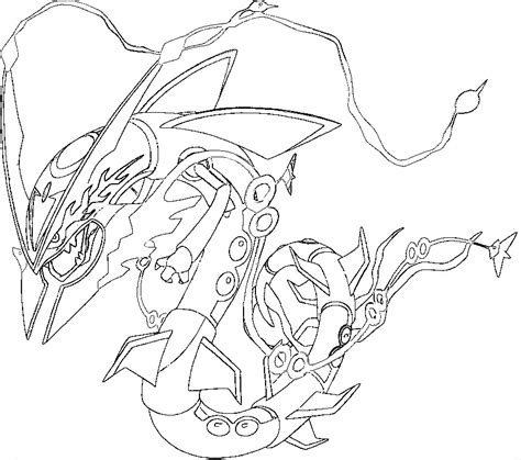 Rayquaza Coloring Pages rayquaza coloring pages az coloring pages