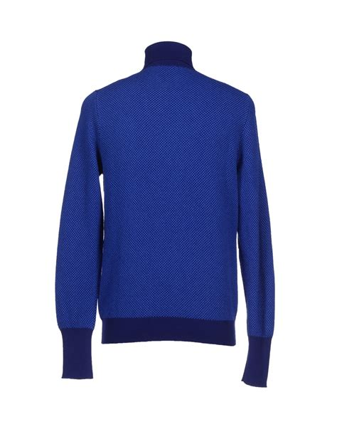 light blue turtleneck mens drumohr turtleneck in blue for men lyst