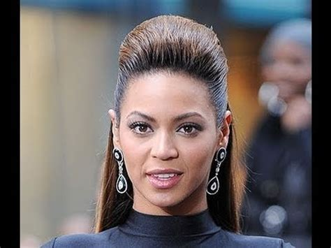 quick easy beyonce single ladies video bouffant hair style tutorial youtube