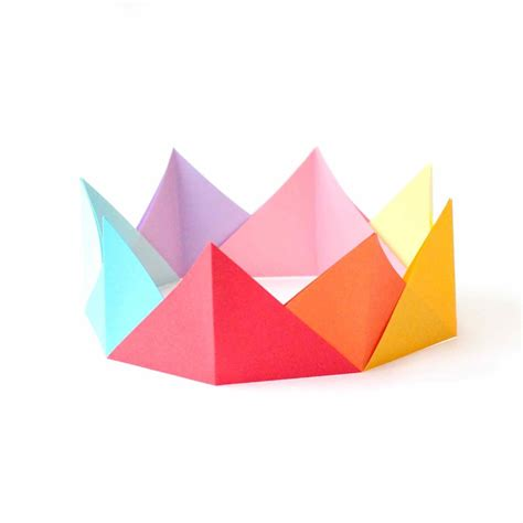 Origami Crown - simple origami crowns