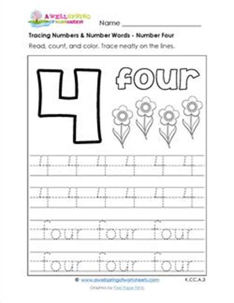 number 4 tracing worksheets grade a wellspring of worksheets