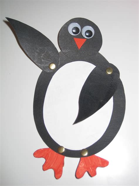 penguin crafts me and my shadow make a penguin